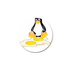 Linux Tux Penguin Birth Golf Ball Marker by youshidesign