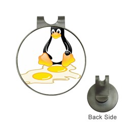 Linux Tux Penguin Birth Hat Clip With Golf Ball Marker by youshidesign
