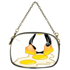 Linux Tux Penguin Birth Chain Purse (two Sided)