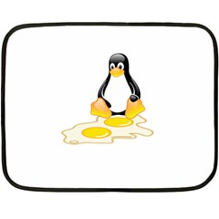Linux Tux Penguin Birth Mini Fleece Blanket (two Sided) by youshidesign
