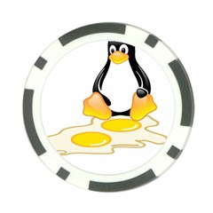 Linux Tux Penguin Birth Poker Chip (10 Pack)
