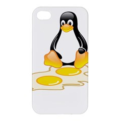 Linux Tux Penguin Birth Apple Iphone 4/4s Hardshell Case