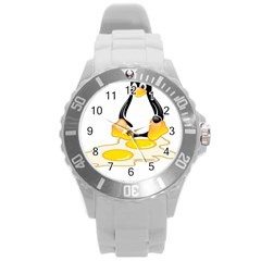 Linux Tux Penguin Birth Plastic Sport Watch (large) by youshidesign