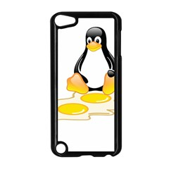 Linux Tux Penguin Birth Apple Ipod Touch 5 Case (black) by youshidesign