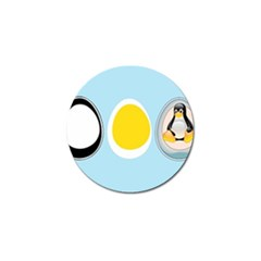 Linux Tux Penguin In The Egg Golf Ball Marker 4 Pack by youshidesign