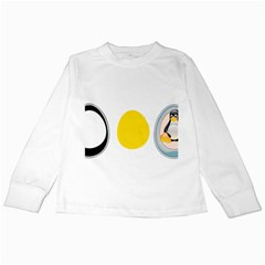 Linux Tux Penguin In The Egg Kids Long Sleeve T Shirt by youshidesign