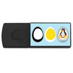 Linux Tux Penguin In The Egg 4gb Usb Flash Drive (rectangle) by youshidesign