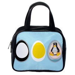 Linux Tux Penguin In The Egg Classic Handbag (one Side) by youshidesign