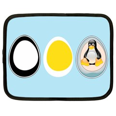 Linux Tux Penguin In The Egg Netbook Sleeve (xl) by youshidesign