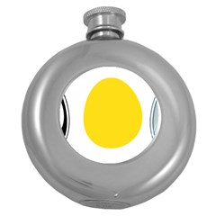 Linux Tux Penguin In The Egg Hip Flask (round)