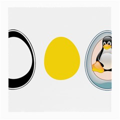 Linux Tux Penguin In The Egg Glasses Cloth (medium, Two Sided) by youshidesign