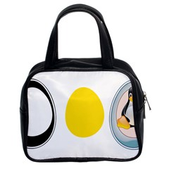 Linux Tux Penguin In The Egg Classic Handbag (two Sides) by youshidesign