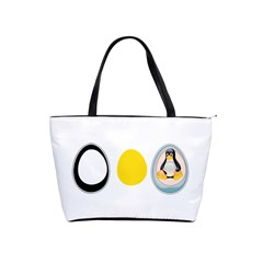 Linux Tux Penguin In The Egg Large Shoulder Bag