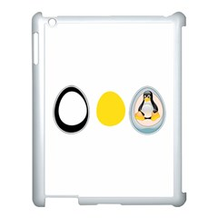 Linux Tux Penguin In The Egg Apple Ipad 3/4 Case (white) by youshidesign