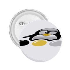 Linux Tux Pengion And Eggs 2 25  Button by youshidesign