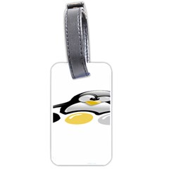 Linux Tux Pengion And Eggs Luggage Tag (two Sides) by youshidesign
