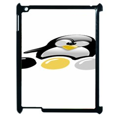 Linux Tux Pengion And Eggs Apple Ipad 2 Case (black) by youshidesign