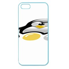 Linux Tux Pengion And Eggs Apple Seamless Iphone 5 Case (color) by youshidesign