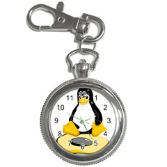 Linux Black Side Up Egg Key Chain & Watch by youshidesign