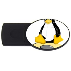 Linux Black Side Up Egg 4gb Usb Flash Drive (oval) by youshidesign