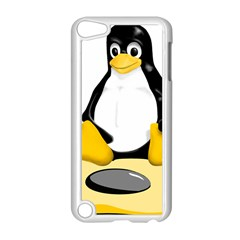 Linux Black Side Up Egg Apple Ipod Touch 5 Case (white) by youshidesign
