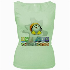 Linux Versions Womens  Tank Top (green) by youshidesign