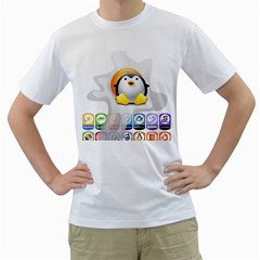 Linux Versions Mens  T Shirt (white) by youshidesign