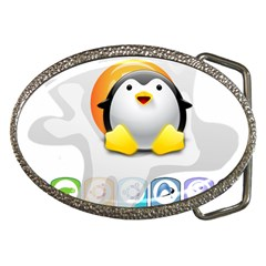 Linux Versions Belt Buckle (oval) by youshidesign