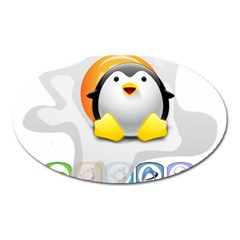 Linux Versions Magnet (oval) by youshidesign