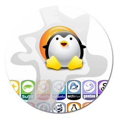 Linux Versions Magnet 5  (round) by youshidesign