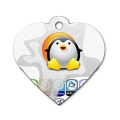 Linux Versions Dog Tag Heart (one Sided)  by youshidesign