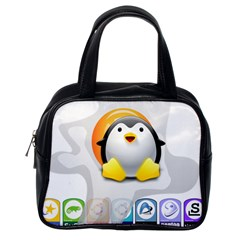 Linux Versions Classic Handbag (one Side) by youshidesign