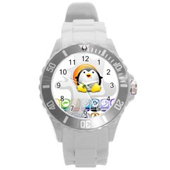 Linux Versions Plastic Sport Watch (large) by youshidesign