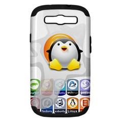 Linux Versions Samsung Galaxy S Iii Hardshell Case (pc+silicone) by youshidesign