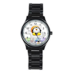 Linux Versions Sport Metal Watch (black) by youshidesign