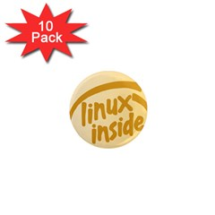 Linux Inside Egg 1  Mini Button Magnet (10 Pack) by youshidesign