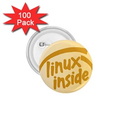 Linux Inside Egg 1 75  Button (100 Pack) by youshidesign
