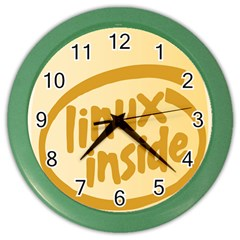 Linux Inside Egg Wall Clock (color) by youshidesign