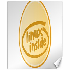 Linux Inside Egg Canvas 11  X 14  (unframed) by youshidesign