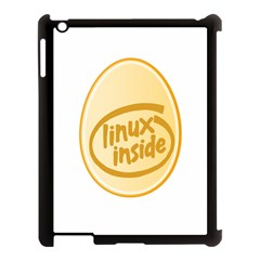 Linux Inside Egg Apple Ipad 3/4 Case (black) by youshidesign