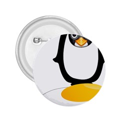 Linux Tux Pengion Oops 2 25  Button by youshidesign