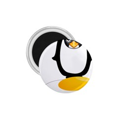 Linux Tux Pengion Oops 1 75  Button Magnet by youshidesign