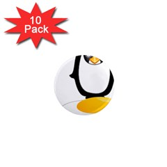 Linux Tux Pengion Oops 1  Mini Button Magnet (10 Pack) by youshidesign