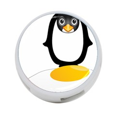 Linux Tux Pengion Oops 4 Port Usb Hub (one Side) by youshidesign