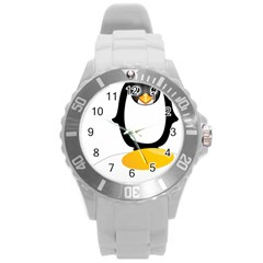 Linux Tux Pengion Oops Plastic Sport Watch (large) by youshidesign