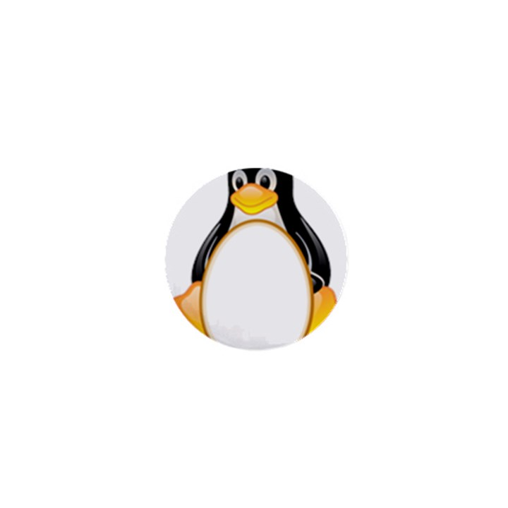 LINUX TUX PENGUINS 1  Mini Button