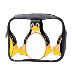 Linux Tux Penguins Mini Travel Toiletry Bag (two Sides) by youshidesign