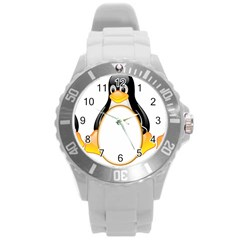 Linux Tux Penguins Plastic Sport Watch (large) by youshidesign