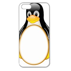 Linux Tux Penguins Apple Seamless Iphone 5 Case (clear) by youshidesign