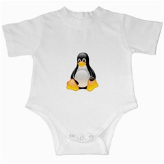 Crystal Linux Tux Penguin  Infant Bodysuit by youshidesign